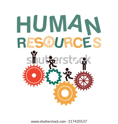 human resources over   background vector illustration - stock vector