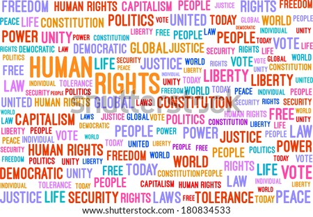 Human Rights Word Cloud Concept Vector - stock vector