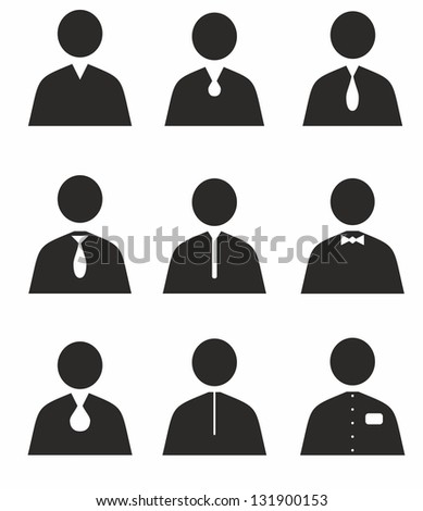 Human set icons - stock vector