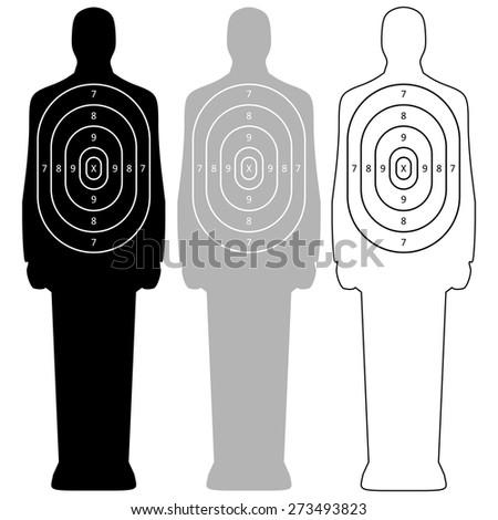 Human target vector - stock vector