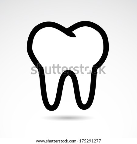 Human teeth icon isolated on white background. VECTOR illustration. - stock vector