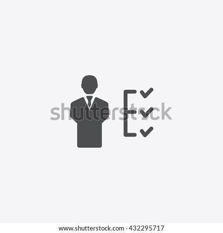 Human to do list Icon, User checklist vector icon, User checklist icon, User Checklist Icon Flat, Check List Icon, Check List Icon Vector, Check List Icon Flat, Human and Checks Icon, To Do List Icon - stock vector