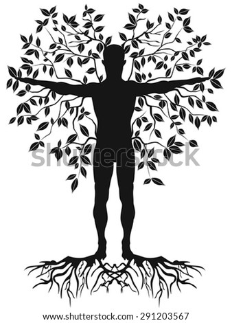human tree - stock vector
