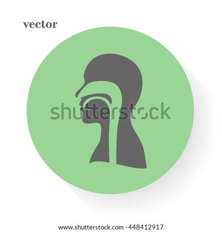 human, vector, throat, - stock vector