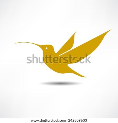 Humming Bird - stock vector