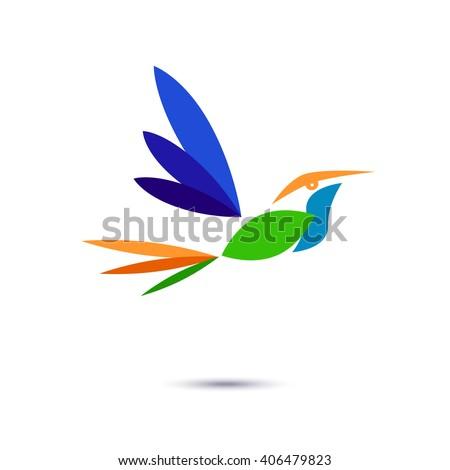Hummingbird. - stock vector