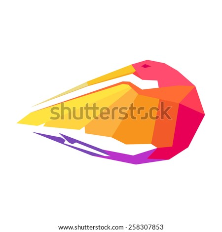 Hummingbird character for logo, vector design template element - stock vector