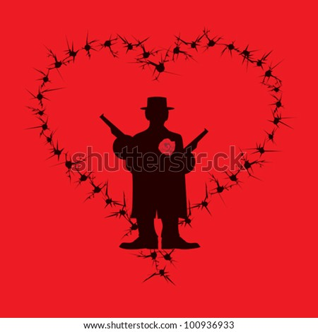 Humorous Valentines Day or Love Card - stock vector
