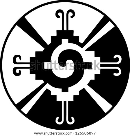 Hunab Ku -Heart of the Galaxy - Mayan symbol for God - stock vectorMayan Symbols Vector
