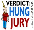 Hung Jury - stock vector