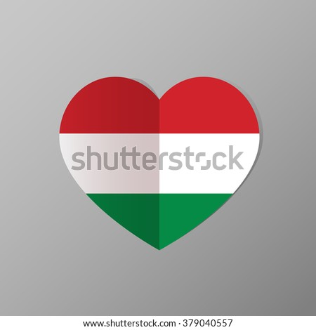 Hungary flag icon. Vector illustration. - stock vector