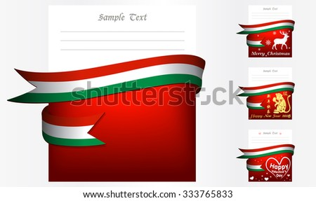 Hungary  's greeting card in big 3 festivals and their template vectors in eps10 - stock vector