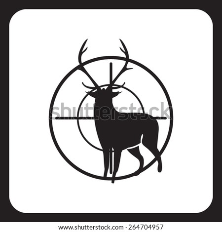 Hunting icon - stock vector