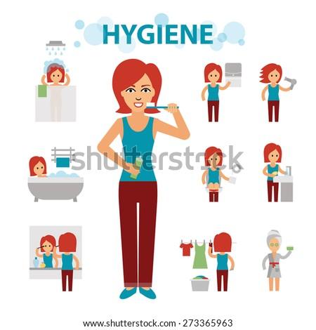 Hygiene infographic elements - stock vector