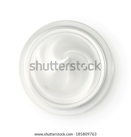 Hygienic cream, top view vector illustration - stock vector