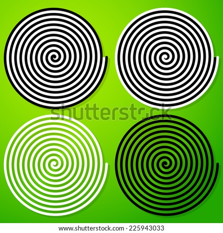 Hypnotic spiral - stock vector