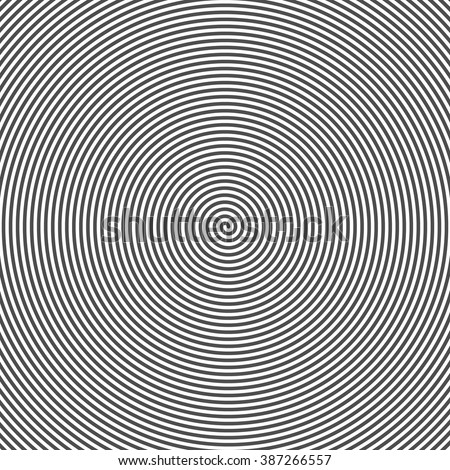 Hypnotic Spiral Abstract Background. Retro Style. Black And White. Vector. - stock vector