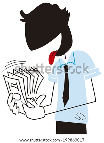 I count the money - stock vector