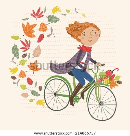 I love autumn - stock vector