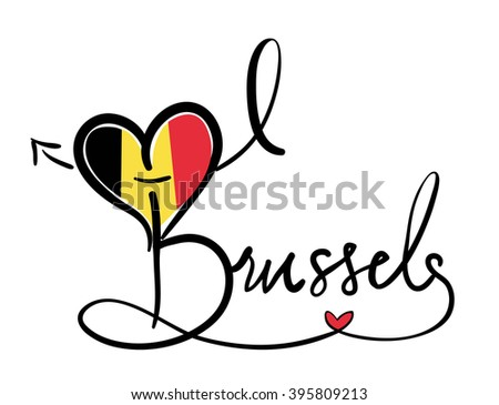 I Love Brussels - Vector Graphic - stock vector