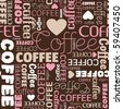 i love coffee seamless pattern in vector - stock vector
