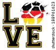 I Love German Football / Soccer - Template ideal for t-shirt printing, posters, flyers, brochures, banners, badges, labels, wallpapers, web design, advertising, publicity or any branding. - stock vector