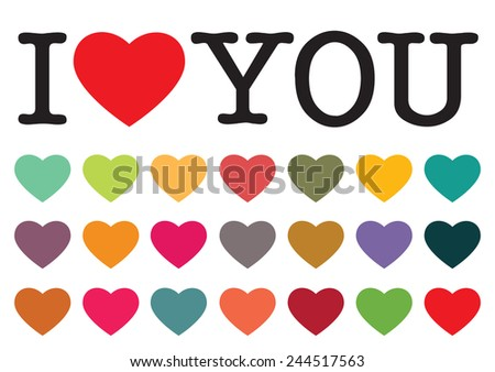 I LOVE YOU - stock vector