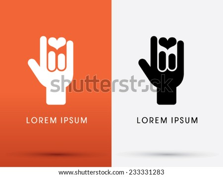 I Love You language hand sign icon, symbol, logo, Vector. - stock vector