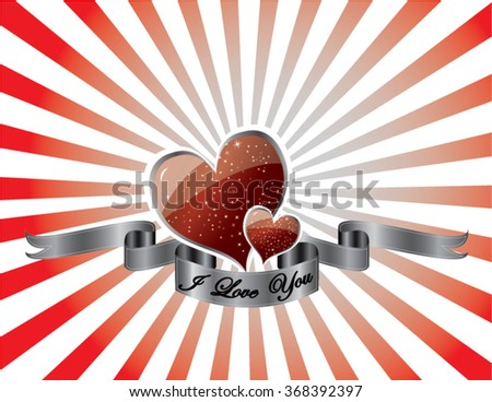 I love you sing with hearts - stock vector