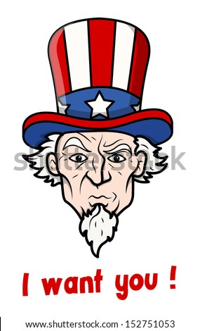 I want you - 4th of July Vector Illustration - stock vector