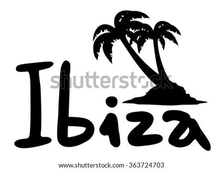 Ibiza icon - stock vector