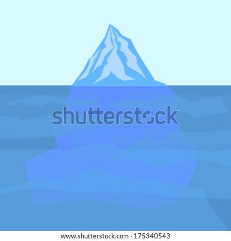 ice berg vector - stock vector