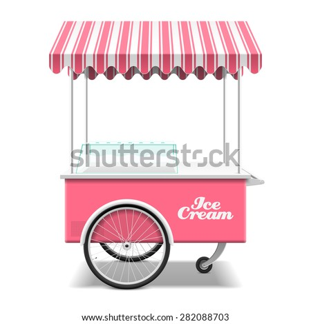 Ice cream cart vector illustration - stock vector