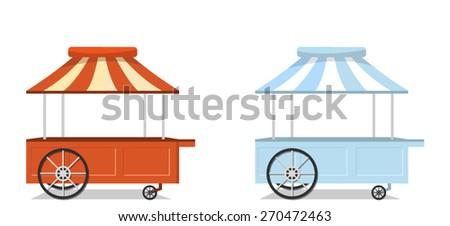 Ice Cream Carts. Vector - stock vector