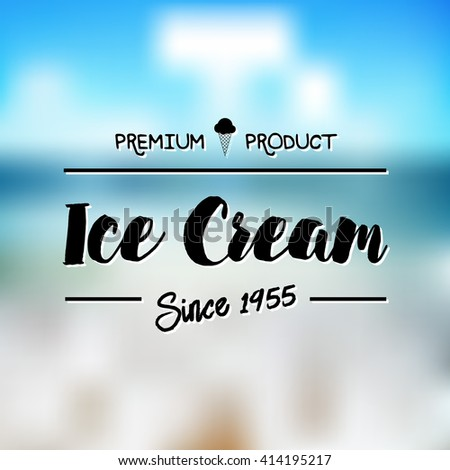 Ice Cream Design Badges and Labels. Vector Illustration.  - stock vector