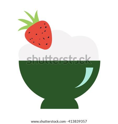 Ice-cream icon  - stock vector