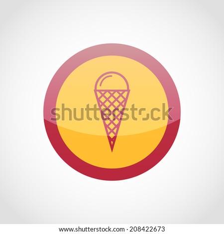 Ice cream icon Isolated on White Background - stock vector