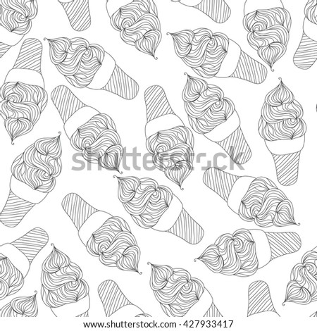 Ice cream pattern. Seamless - stock vector