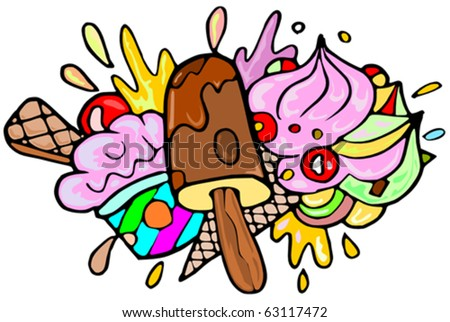 Ice Creams - stock vector