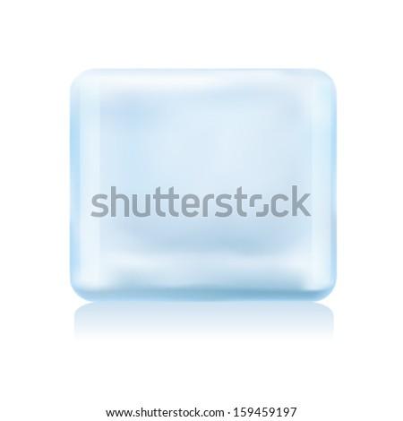ice cube - stock vector