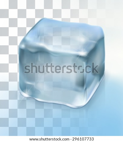 Ice cube cocktail, vector object with transparency - stock vector