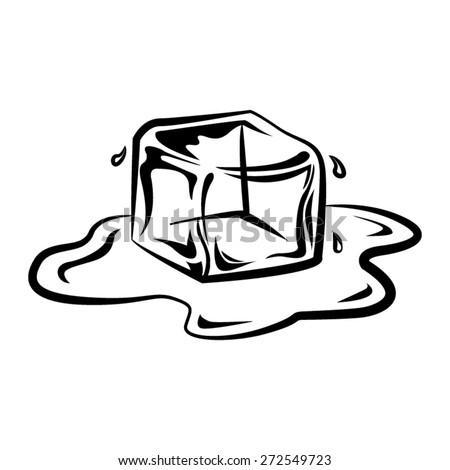 Ice Cube Vector - stock vector