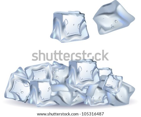 ice cubes - stock vector