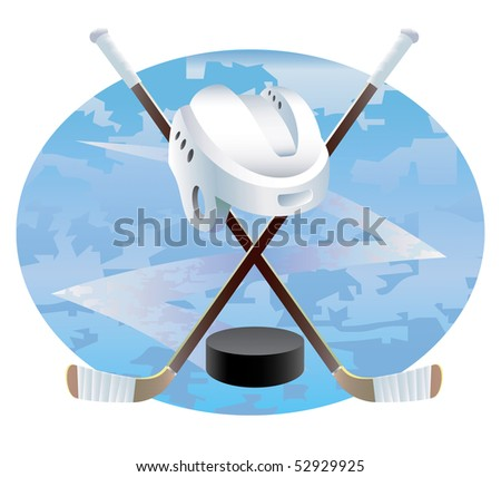 Ice hockey abstract background. Vector illustration. - stock vector
