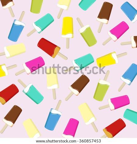 ice on a stick - hot summer vector illustration - stock vector