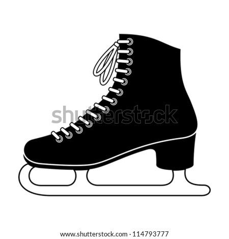 Ice skate - stock vector