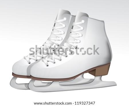 Ice skate eps10 - stock vector