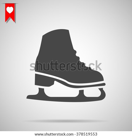 Ice skate icon - stock vector