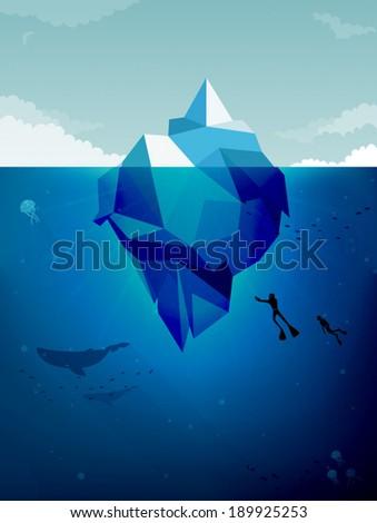 Iceberg  - stock vector