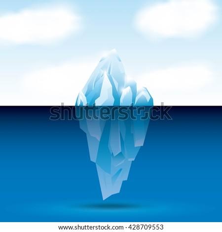 iceberg glacier  design  - stock vector